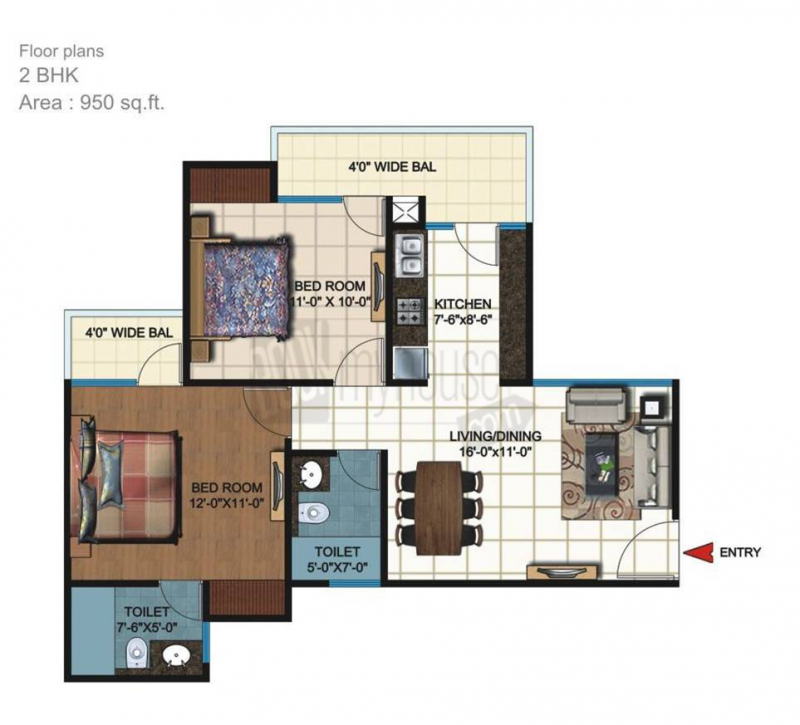 MGI_Sanskar_Residency_Floor_Plan_3_BHK_1200_sqft
