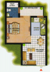 Kalka_ROYAL_RESIDENCY_Floor_Plan_1_BHK_520_Sqft