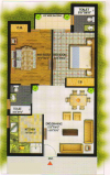 Kalka_ROYAL_RESIDENCY_Floor_Plan_2BHK__1100_Sqft
